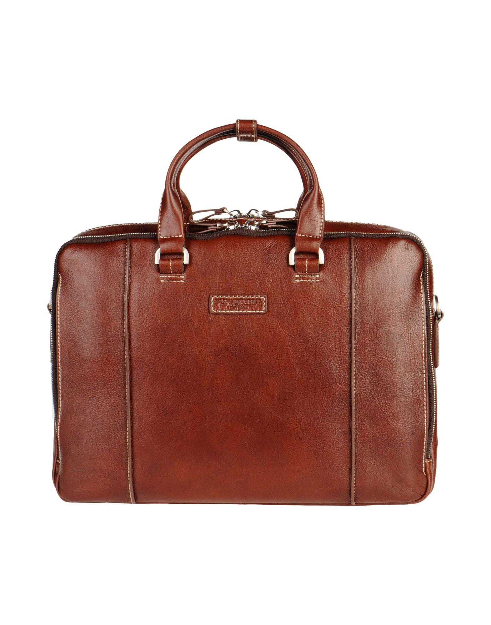 A.G. SPALDING & BROS. 520 FIFTH AVENUE New York Herren Aktentaschen Farbe Braun Größe 1