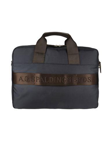 A.G. SPALDING & BROS. 520 FIFTH AVENUE New York メンズ ブリーフケース ダークブルー 紡績繊維 / 革
