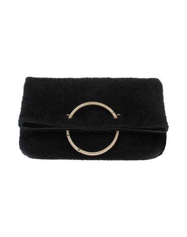 VICTORIA BECKHAM レディース ハンドバッグ ブラック 毛(ベビーアルパカ) 100% / 羊革(ラムスキン)