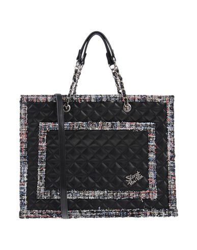 SECRET PON-PON レディース ハンドバッグ ブラック 紡績繊維