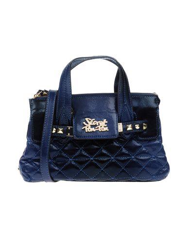 SECRET PON-PON レディース ハンドバッグ ブルー 紡績繊維