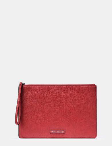 PEBBLED WRISTLET FOLIO