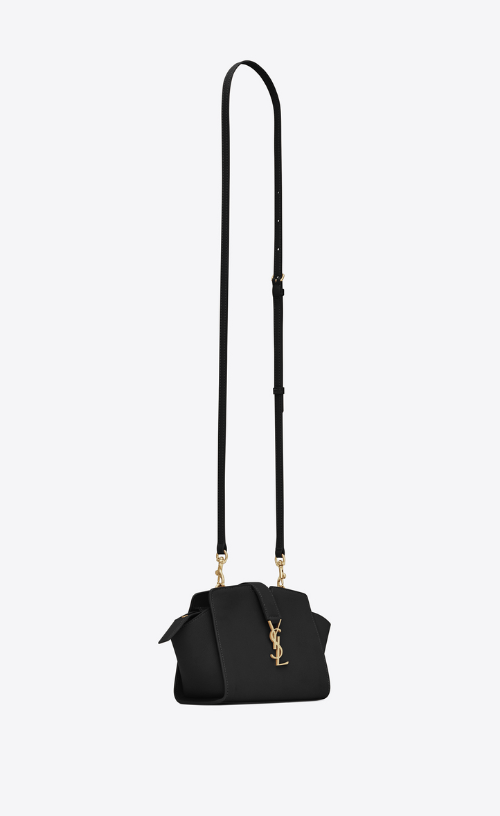 Zoom Toy Ysl Cabas Bag In Black Leather Another Angle View