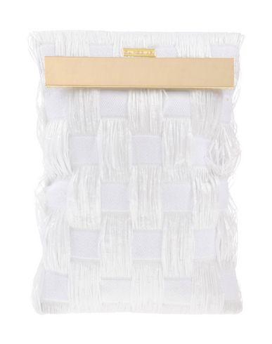 OUI, ODILE! レディース ハンドバッグ ホワイト 紡績繊維