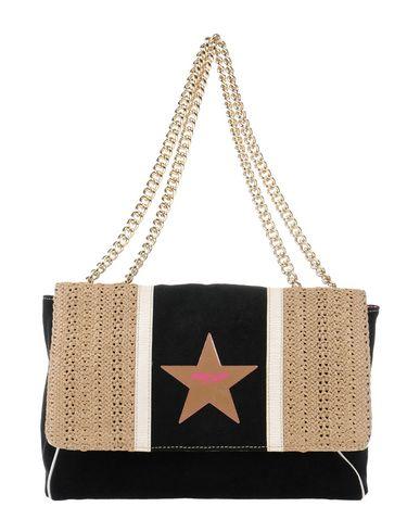 PIN UP STARS レディース ハンドバッグ ブラック 紡績繊維