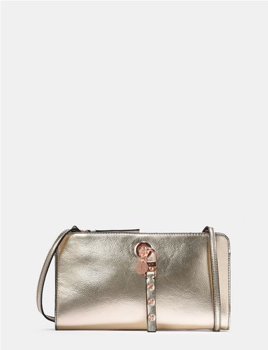 METALLIC CHARM CROSSBODY