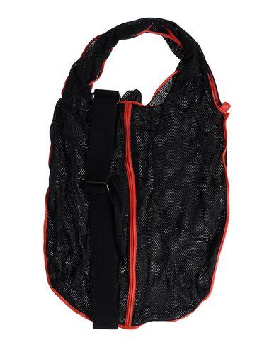 IB & B レディース ハンドバッグ ブラック 紡績繊維 / 羊革(ラムスキン)