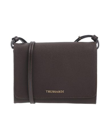 TRUSSARDI レディース ハンドバッグ ダークブラウン ポリ塩化ビニル 100% / 牛革(カーフ)