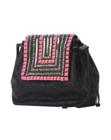 CHIARA P レディース バックパック&ヒップバッグ ブラック 紡績繊維