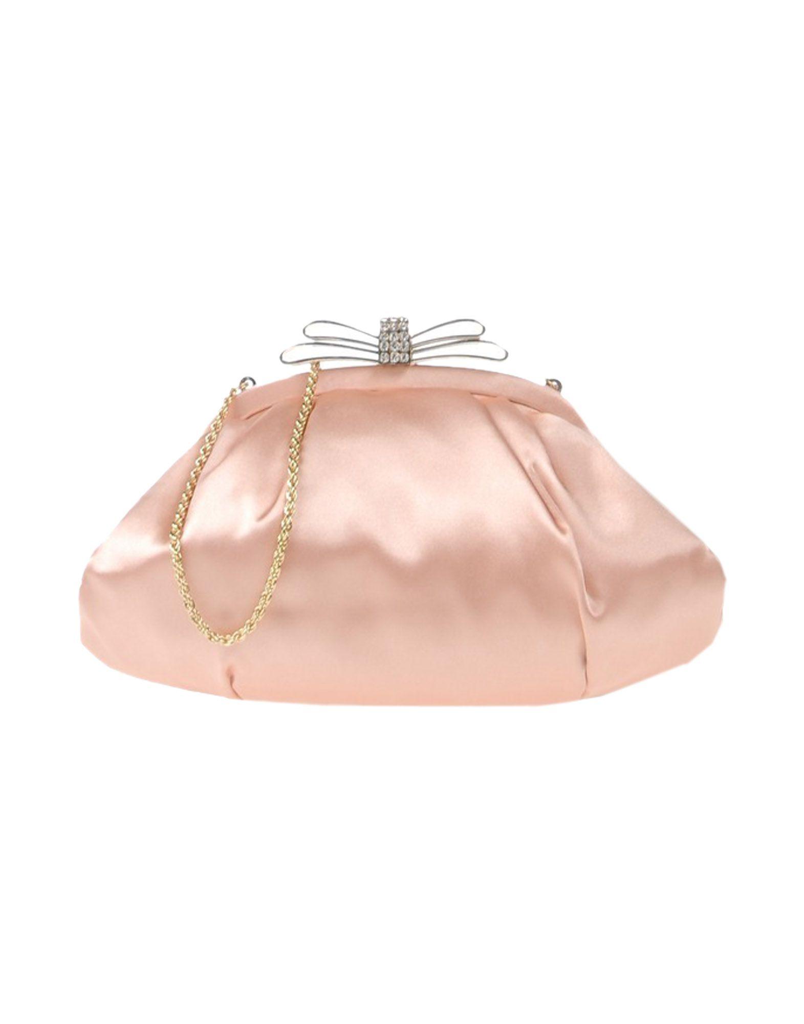 《送料無料》CHIARA P レディース ハンドバッグ ローズピンク 紡績繊維