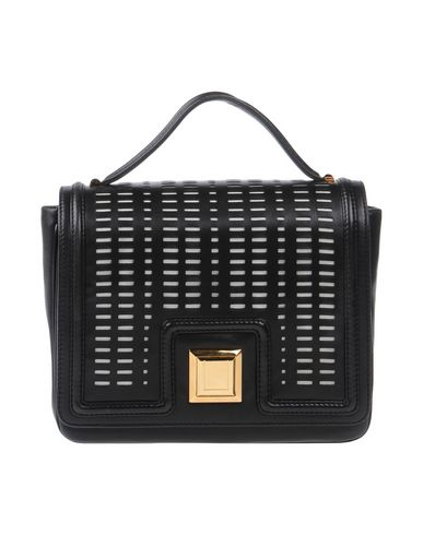 EMANUEL UNGARO レディース ハンドバッグ ブラック 革 / 紡績繊維