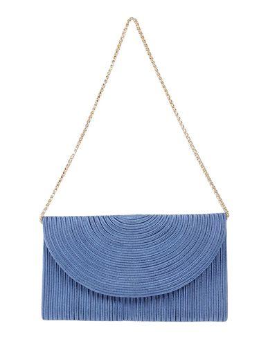 CHIARA P レディース ハンドバッグ ブルーグレー 紡績繊維