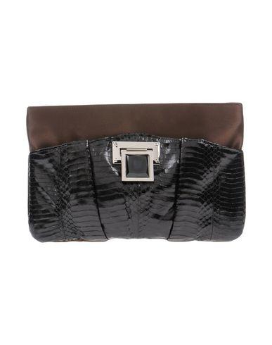 CHIARA P レディース ハンドバッグ ブラック 紡績繊維 / 革