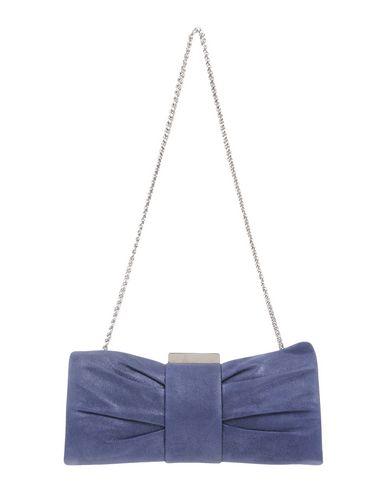 CHIARA P レディース ハンドバッグ ダークブルー 紡績繊維