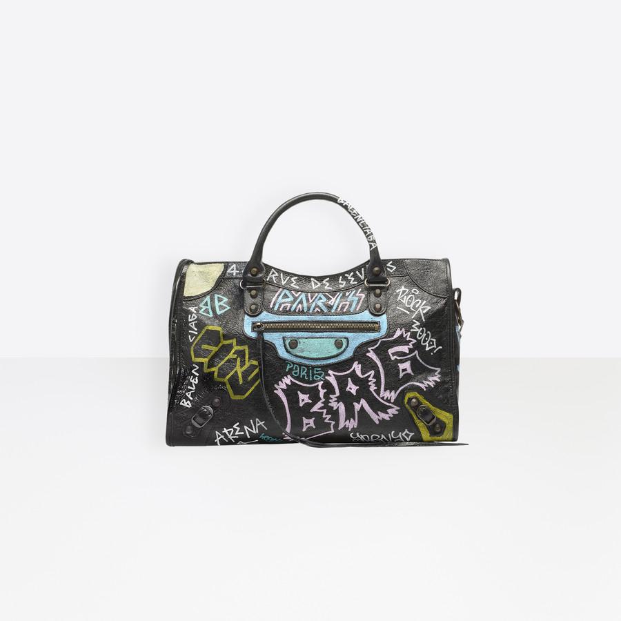 BALENCIAGA Graffiti Classic City Classic City Handbag D f