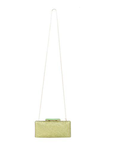 CHIARA P レディース ハンドバッグ ビタミングリーン 紡績繊維