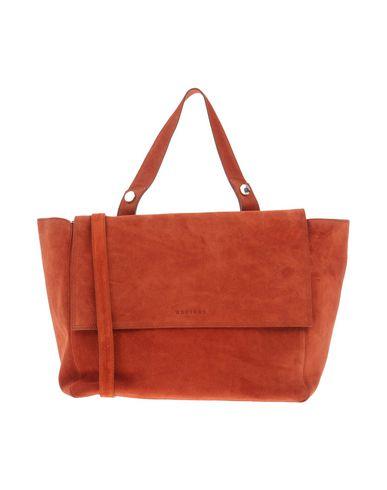 ORCIANI レディース ハンドバッグ 赤茶色 革