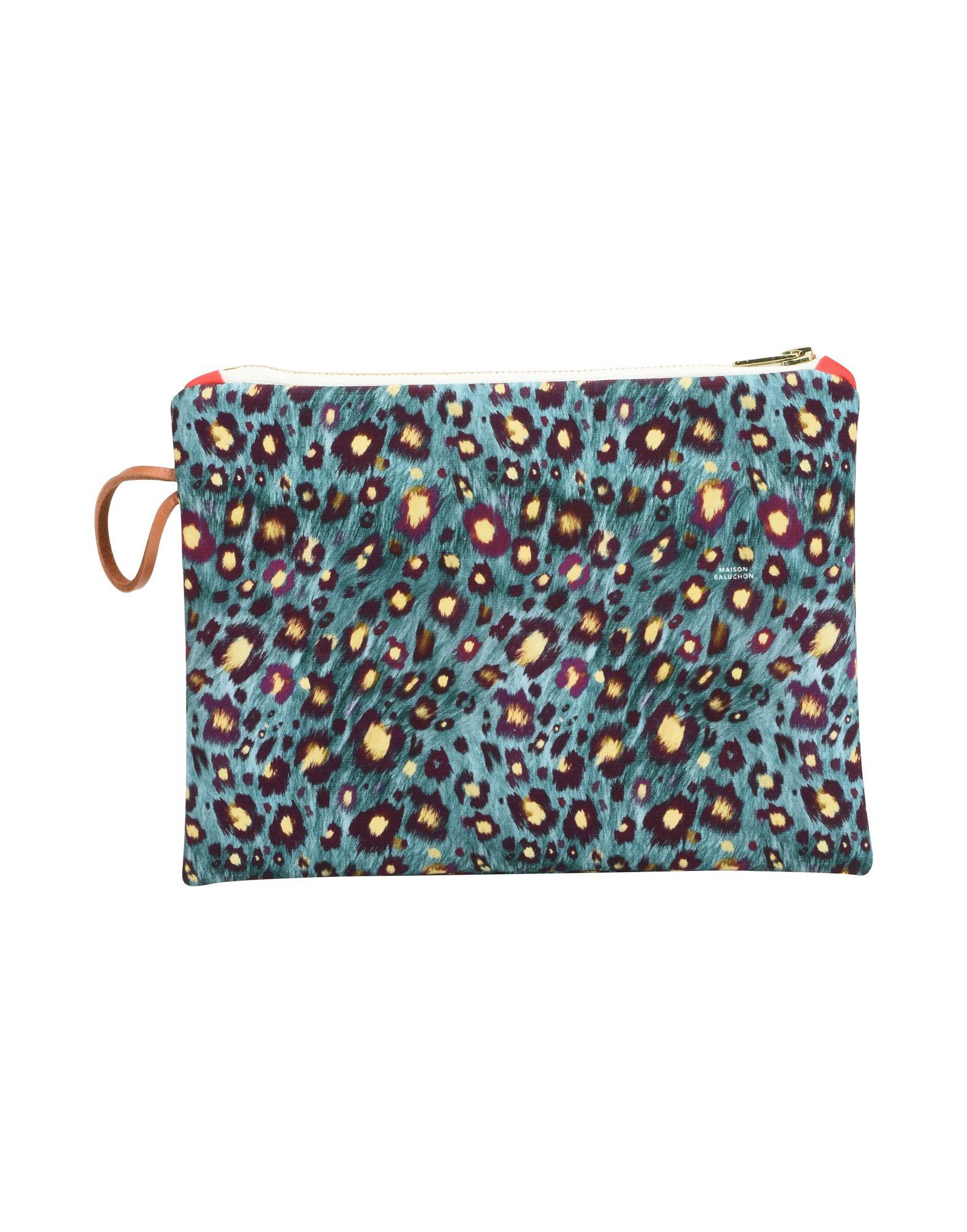 《セール開催中》MAISON BALUCHON レディース ハンドバッグ ディープジェード 紡績繊維 SMALL CLUTCH