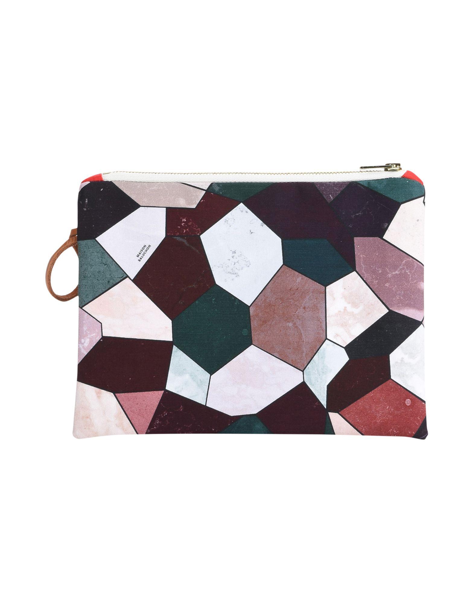 《セール開催中》MAISON BALUCHON レディース ハンドバッグ パープル 紡績繊維 SMALL-CLUTCH