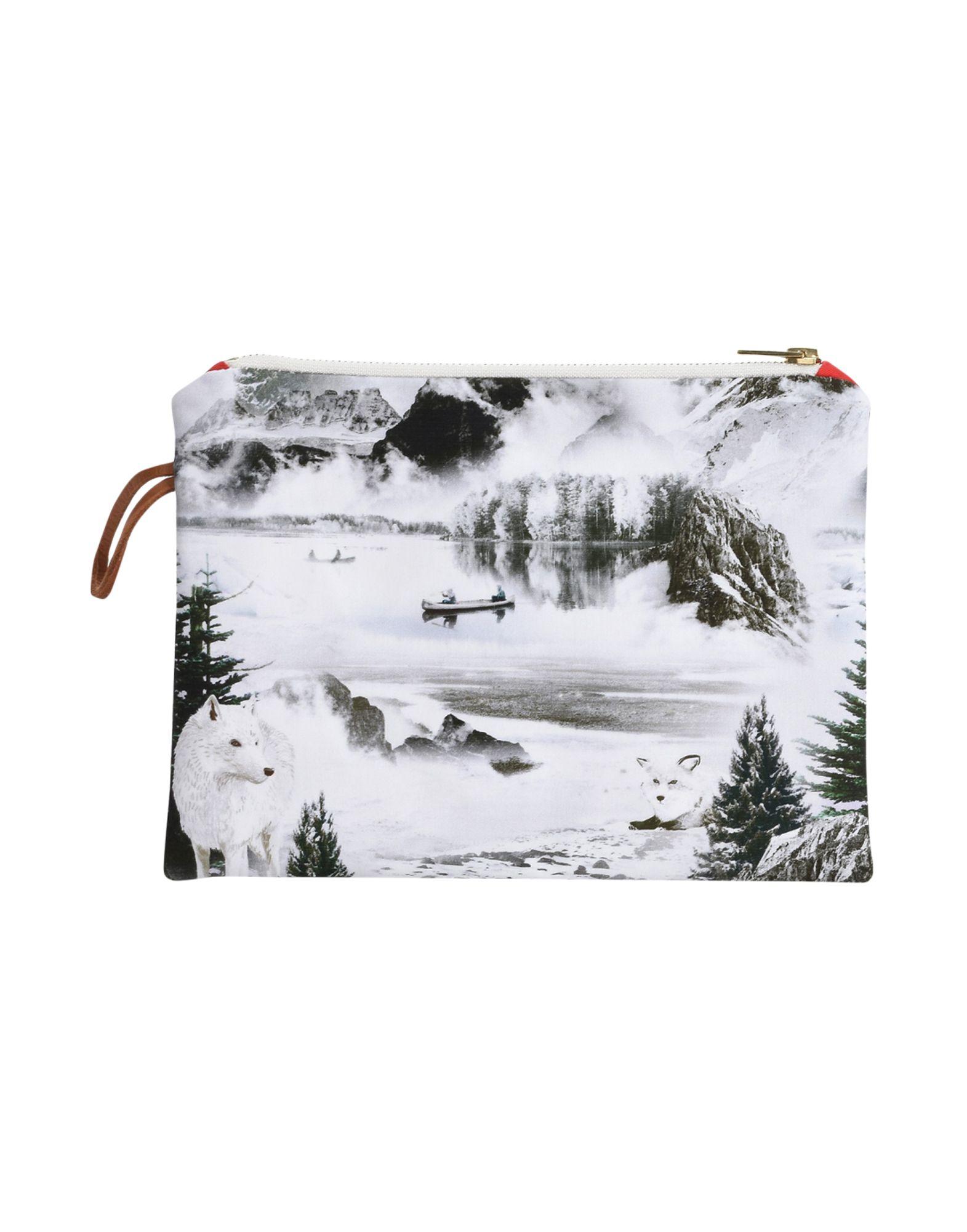 《セール開催中》MAISON BALUCHON レディース ハンドバッグ ホワイト 紡績繊維 SMALL-CLUTCH