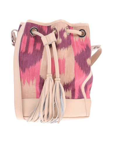 LE RUTS レディース メッセンジャーバッグ フューシャ 紡績繊維 / 革