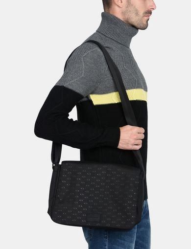 ALLOVER LOGO NYLON MESSENGER BAG