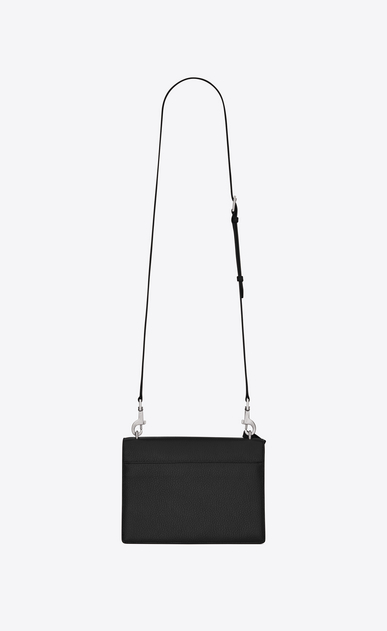 SAINT LAURENT Sunset D MEDIUM SUNSET SATCHEL AUS SCHWARZEM, GENARBTEM LEDER  b_V4