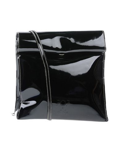 FRANCO PUGI レディース ハンドバッグ ブラック 紡績繊維