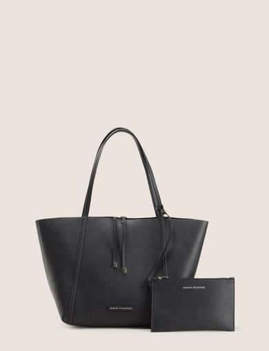 MEDIUM PEBBLED REVERSIBLE TOTE
