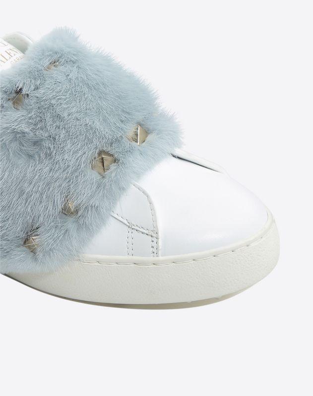 Mink fur sneaker