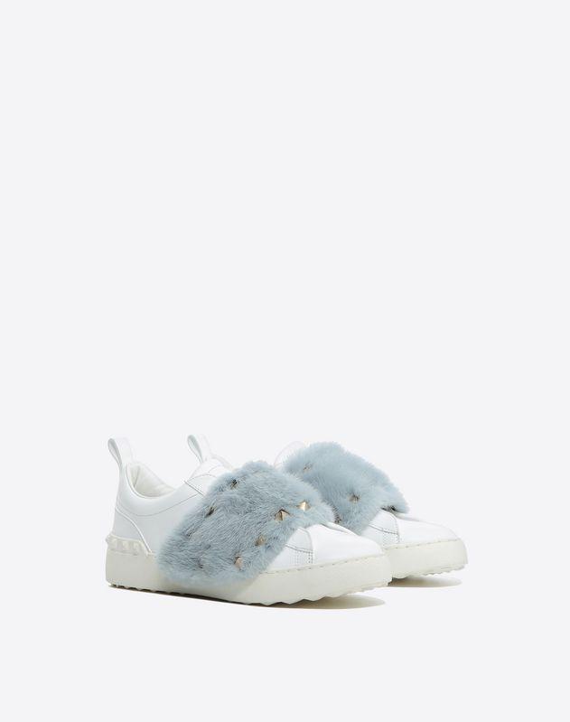 Sneakers mit Nerzbesatz