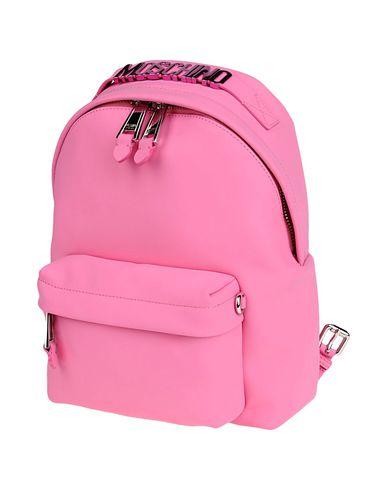 MOSCHINO レディース バックパック&ヒップバッグ ピンク 紡績繊維