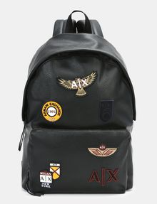 dbf97ca1164 Armani Exchange FAUX LEATHER PATCH BACKPACK , Backpack for ...
