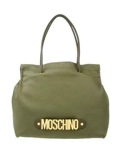 MOSCHINO レディース ハンドバッグ ミリタリーグリーン 紡績繊維