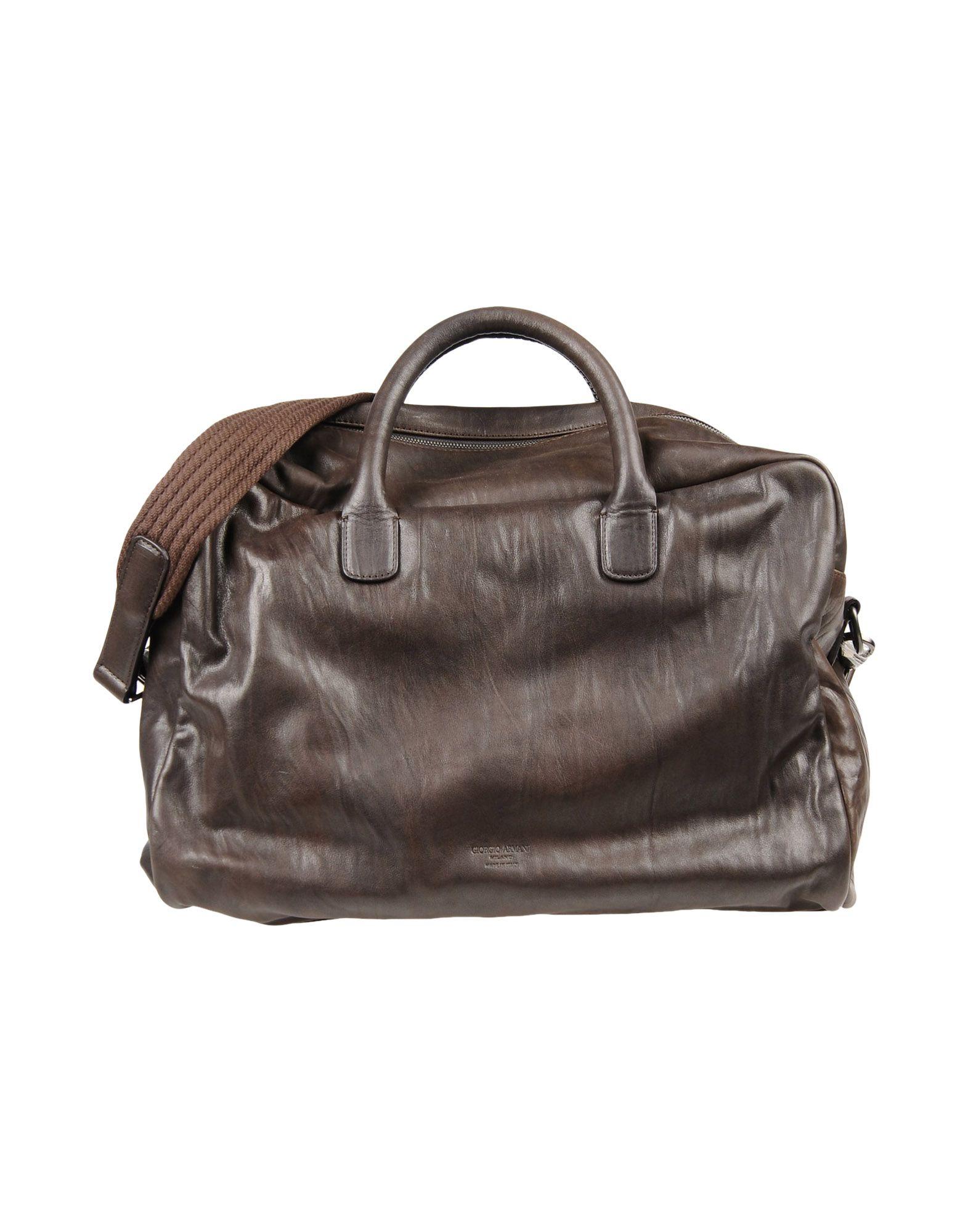 f0eecfaba51b Giorgio Armani Travel   Duffel Bag In Dark Brown