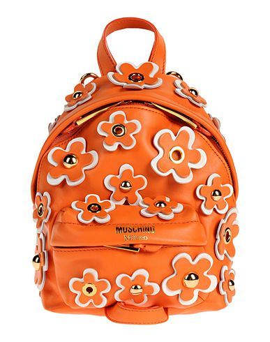 MOSCHINO レディース バックパック&ヒップバッグ オレンジ 革