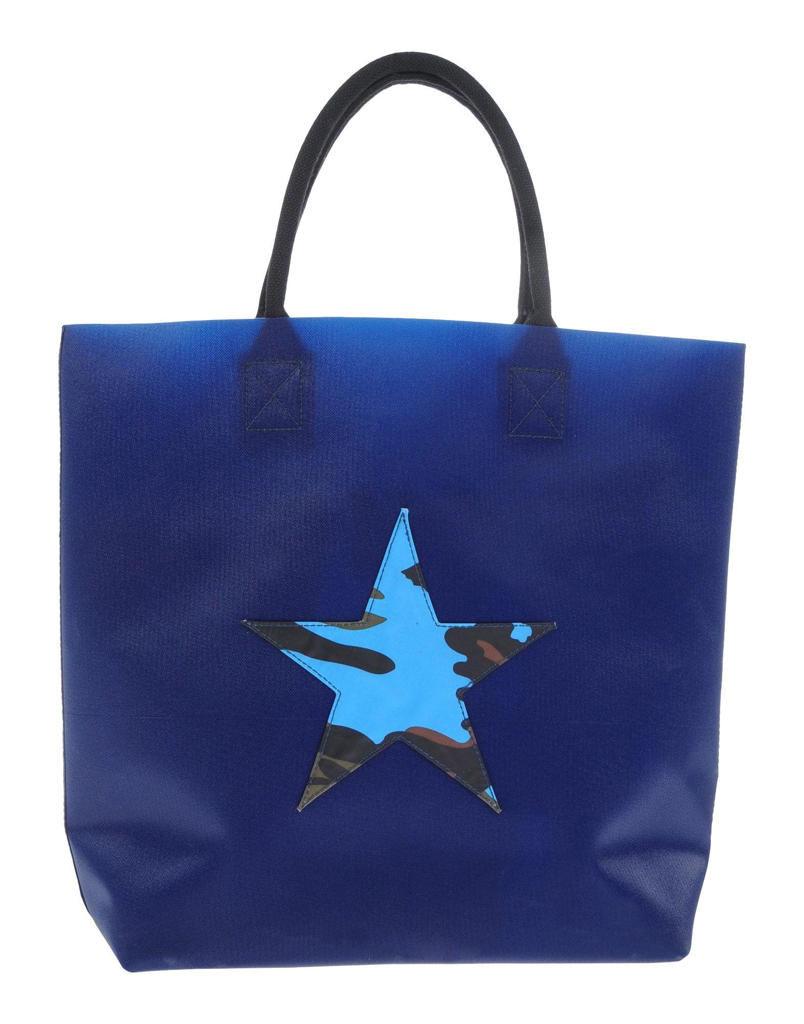 《セール開催中》GOOD MOOD レディース ハンドバッグ ダークブルー 紡績繊維