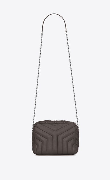 "SAINT LAURENT Monogramme Loulou D classic small loulou bowling bag in grey ""y"" matelassé leather a_V4"