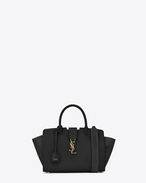 SAINT LAURENT MONOGRAMME TOTE D Baby DOWNTOWN leather and suede cabas bag in black f