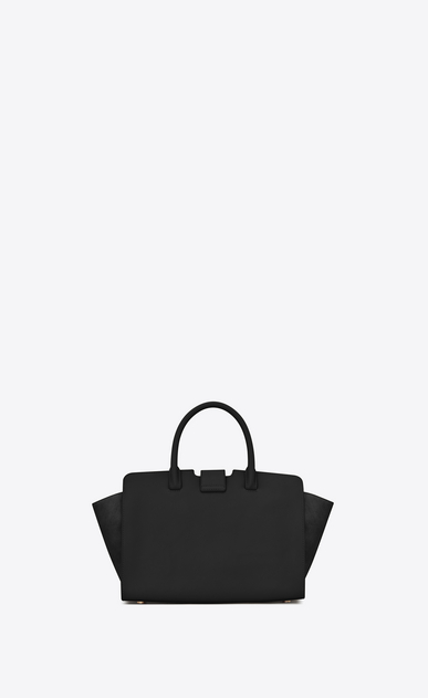 SAINT LAURENT MONOGRAMME TOTE Woman Baby DOWNTOWN leather and suede cabas bag in black b_V4