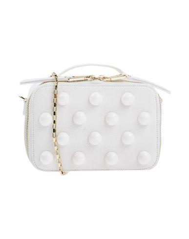 POLLINI レディース ハンドバッグ ホワイト 紡績繊維