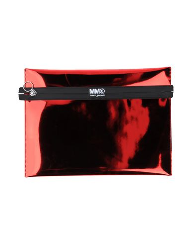 MM6 MAISON MARGIELA レディース ハンドバッグ レッド ポリエステル 100% / ポリウレタン