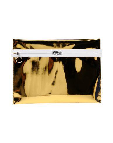 MM6 MAISON MARGIELA レディース ハンドバッグ ゴールド ポリエステル 100% / ポリウレタン