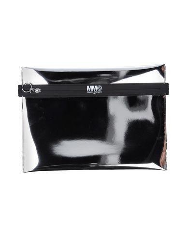 MM6 MAISON MARGIELA レディース ハンドバッグ シルバー ポリエステル 100% / ポリウレタン