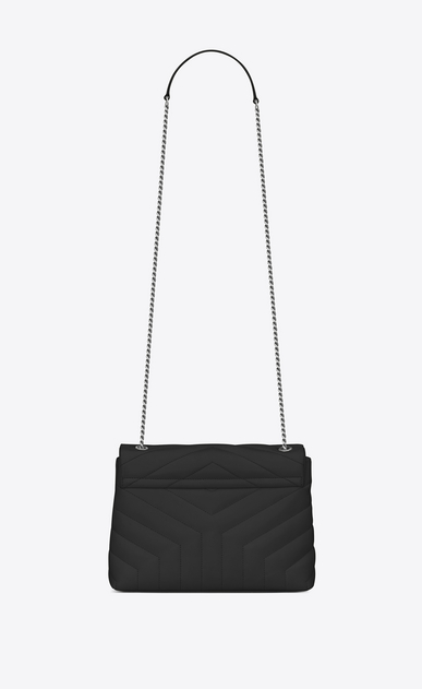"SAINT LAURENT Monogramme Loulou D Small LOULOU Chain Bag in black ""Y"" Matelassé Leather b_V4"