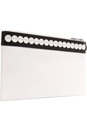 MICHAEL MICHAEL KORS Appliquéd leather clutch