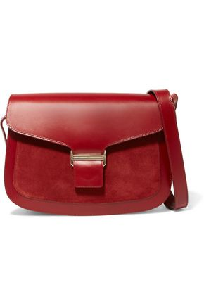 VANESSA SEWARD Claire leather and suede shoulder bag