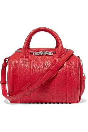 ALEXANDER WANG Rockie textured-leather shoulder bag