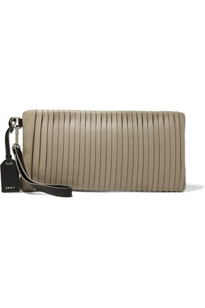 DKNY Pintucked leather clutch
