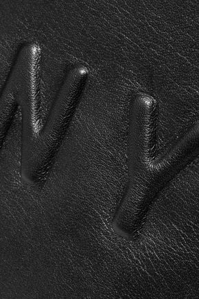 DKNY Embossed two-tone leather clutch